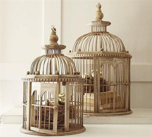 Jaulas vintage para decoracion BIRD CAGES Pinterest Jaulas