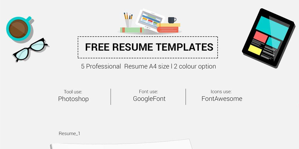 Free Infographic Resume Template Ultimate Collection of Free - font to use on resume