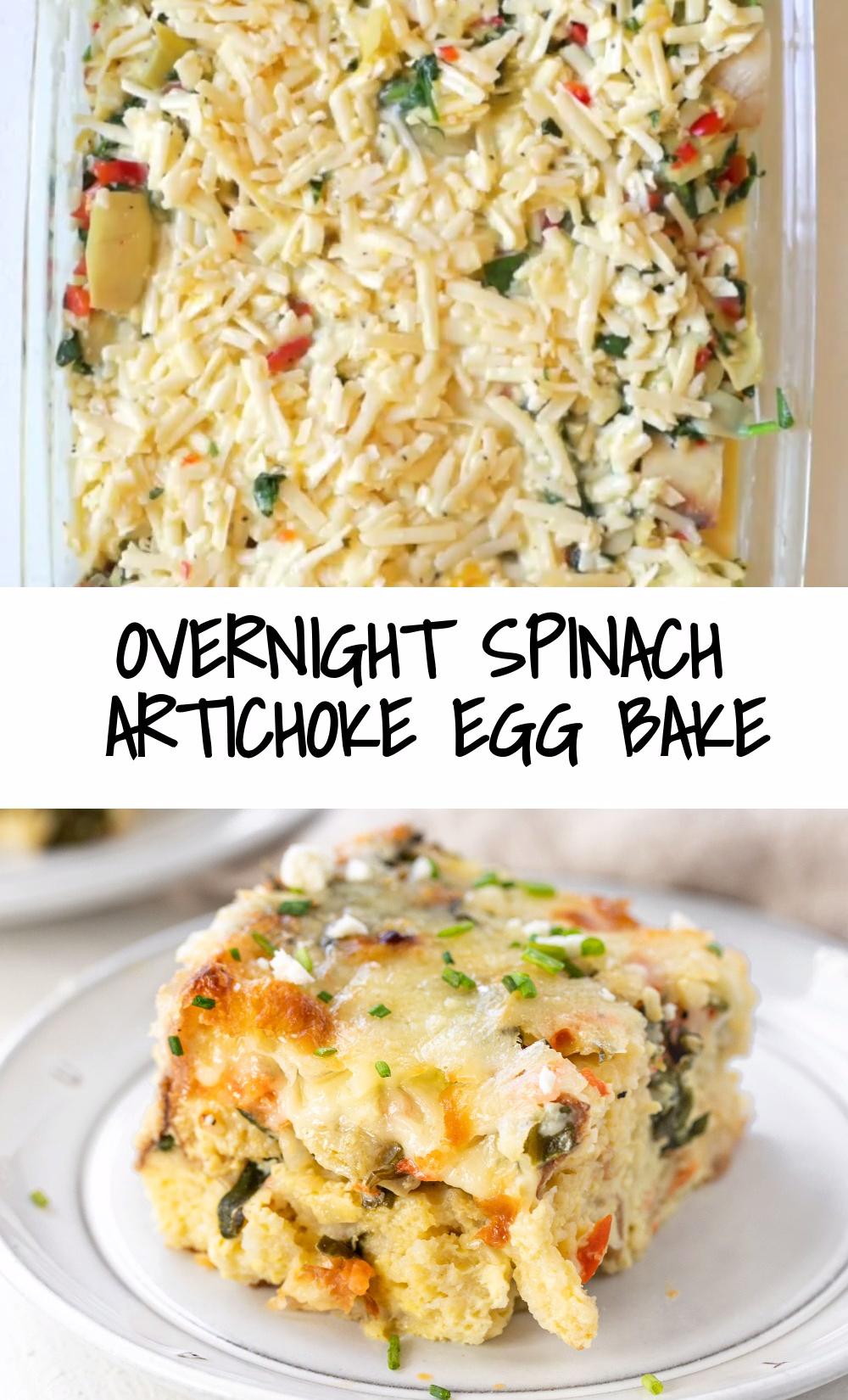 Overnight Spinach Artichoke Egg Bake (VIDEO)