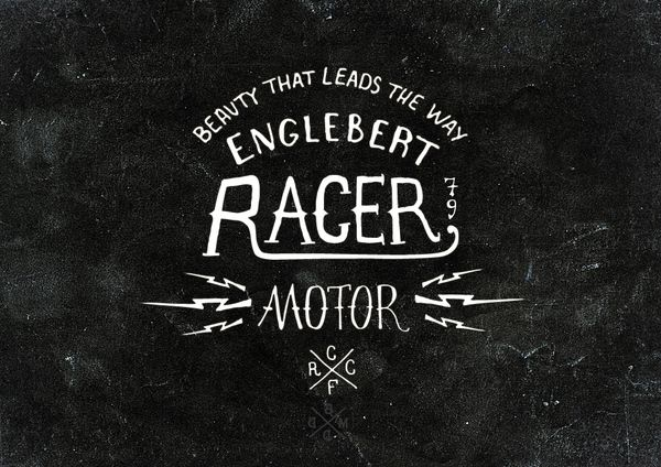 cafe racerbmd designbmd design , via behance | typography