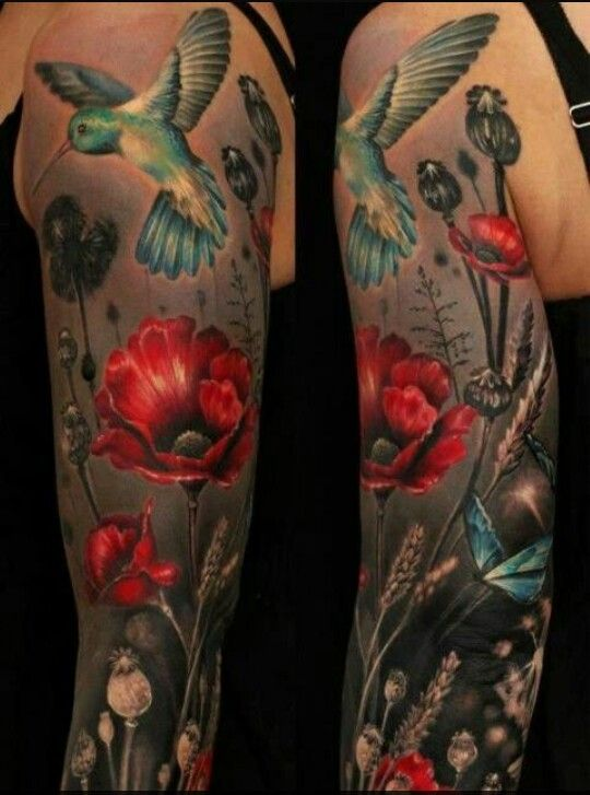 Silo Tattoos Incredible Body Art Masterpieces That Look: Nature Scene. Color & Grey
