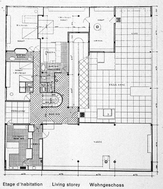 Villa Site Plan Design: Villa Savoye Plan, Villa Plan, Le