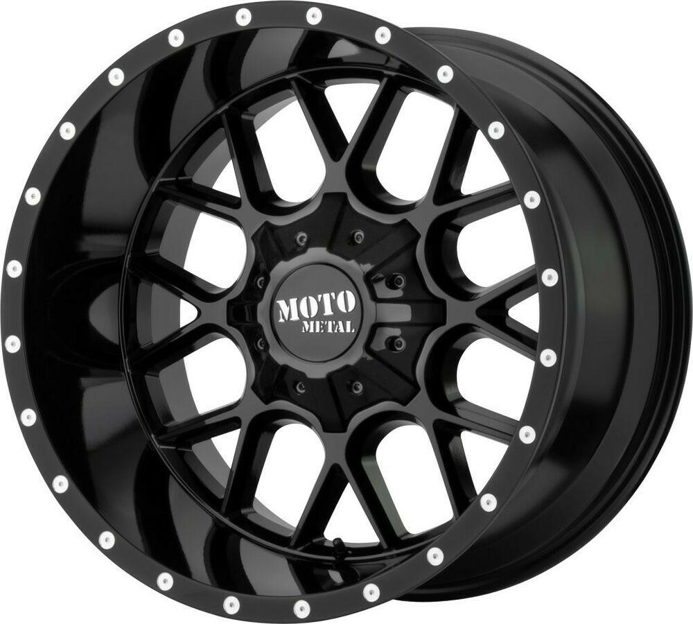 """20"""" Moto Metal M0986 Siege 20x9 5x5 5x5.5 Gloss Black Jeep"""