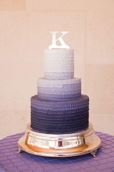 Purple ombré buttercream cake featured in the 2013 Wedding Planner & Guide | CreativeConfections.net | PrimaveraStudios.com