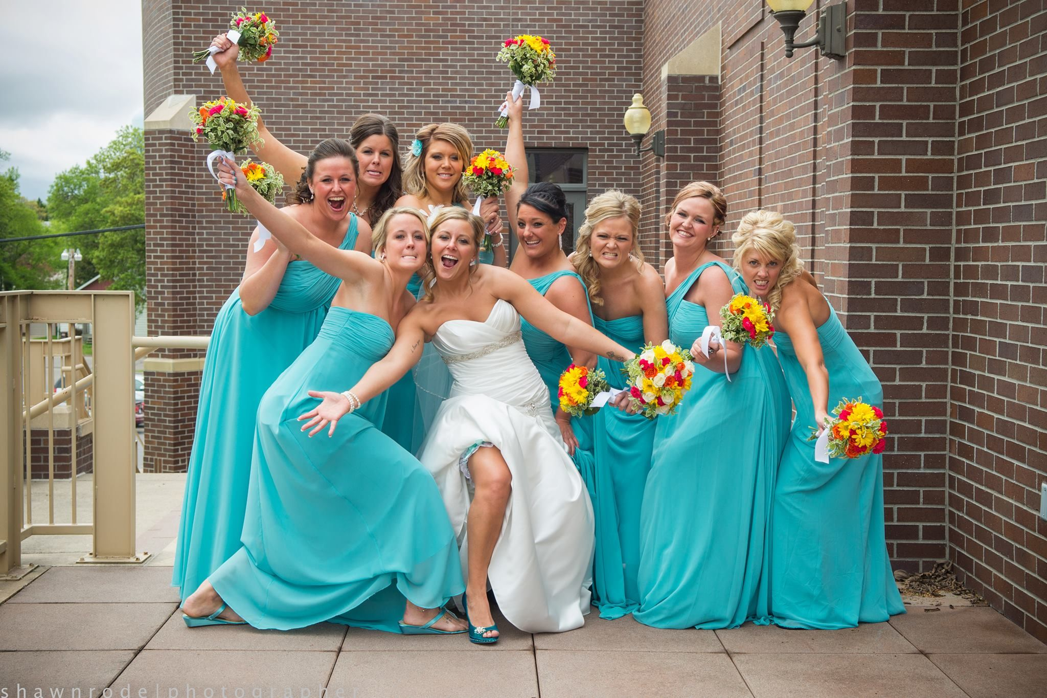 Bill Levkoff Bridesmaid gowns in glacier from Alan Evans Bridal ...