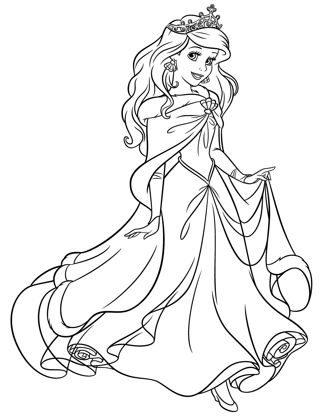 ariel coloring pages online - photo#48