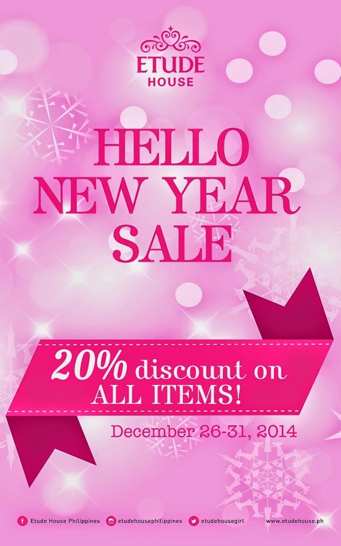 Manikang Hapon Etude House Year End Sale Etude House Sale New Years Sales