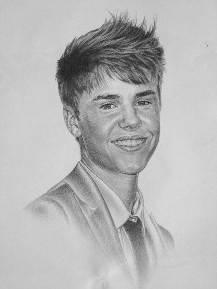 Justin bieber original 18 x 24 sketch print