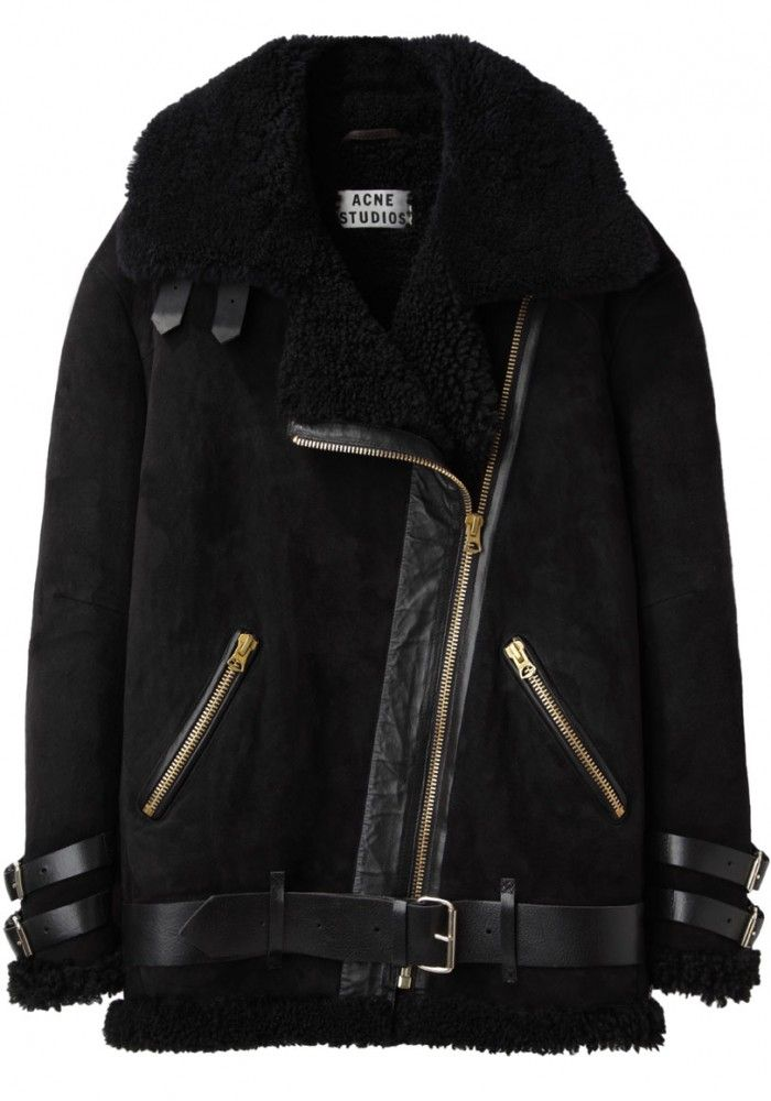 Acne Studios Velocite Shearling jacket. Black JacketsGray ...