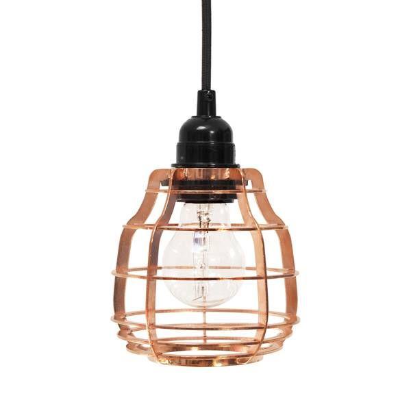 HKliving Lab lamp koper Met plafondkap
