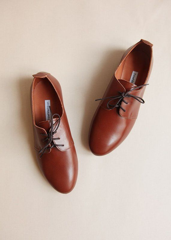 5b158ed505f3a The Leather Saddle Shoes In Mocha Brown | Women's Oxford Leather ...