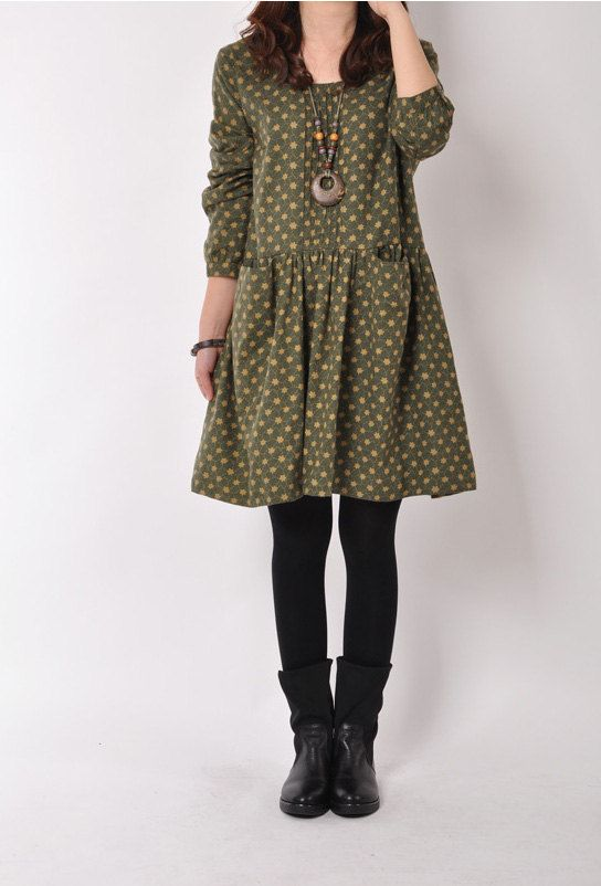 Loose Fitting Cotton Long Shirt Blouse Dress  for by deboy2000, $58.99