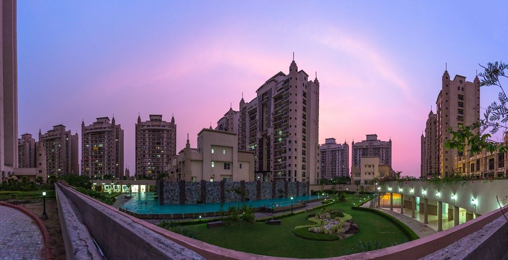 Night View Residential Building Design Buying Property Greater Noida