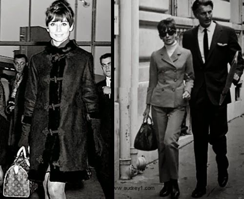 c41ea43166df Audrey Hepburn and her Louis Vuitton Monogram Speedy 25.