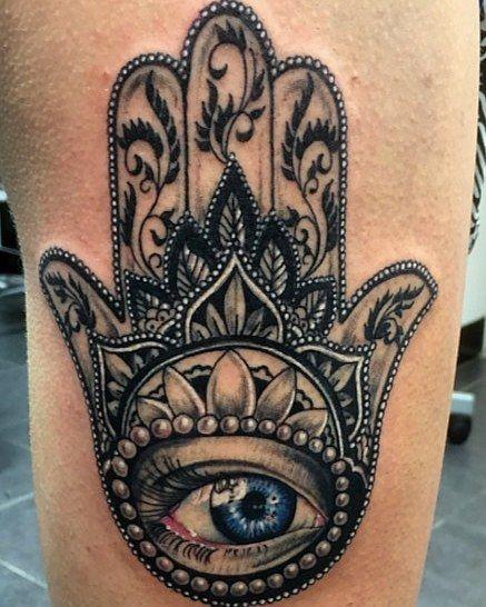 Mano De Fatima Tatuaje Original De Manu Mos Tatuaje De Mano De Fatima Tatuaje De Mano Hamsa Mano De Fatima
