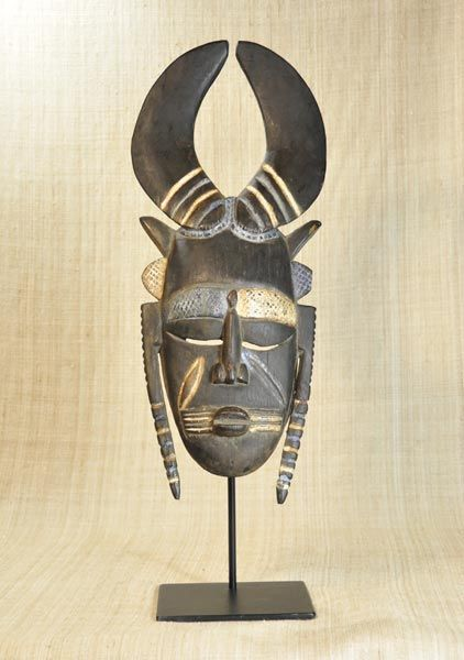African Masks - Jimini Mask 18 - Front - Click to return to the top of the page.