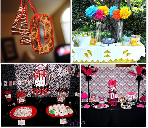 25 Adult Birthday Party Ideas 30th, 40th, 50th, 60th Fiestas de
