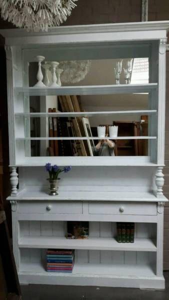 Einmalig imposantAntike Vitrine/ BücherschrankJugendstil Weiß - Ebay Kleinanzeigen Küchenschrank