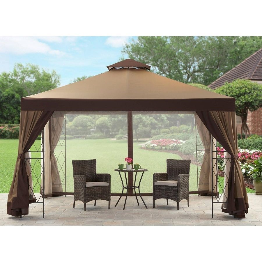 Gazebo curtains outdoor - Outdoor Gazebo 12x10 Patio Canopy Garden Tent Shade Shelter Steel Frame Curtain Unbranded