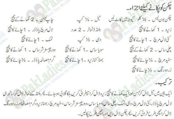Chicken Boneless Handi Recipe Urdu English Spicy Recipes Indian Spices Recipes