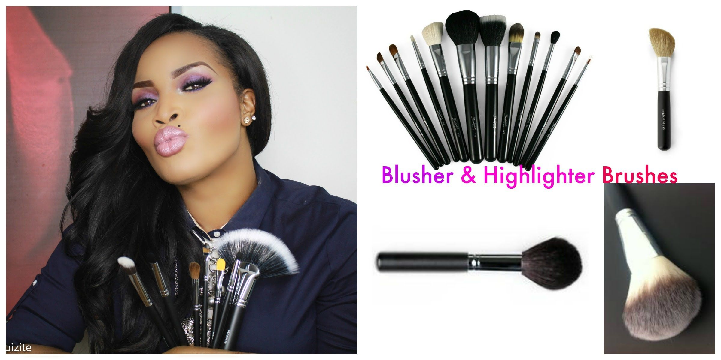 Makeup Brushes Guide Part 2 Blusher & Highlight Brushes