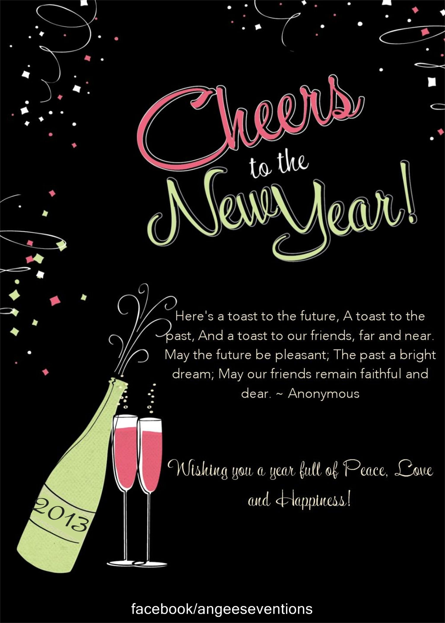 Cheers! New years eve invitations, Party invite