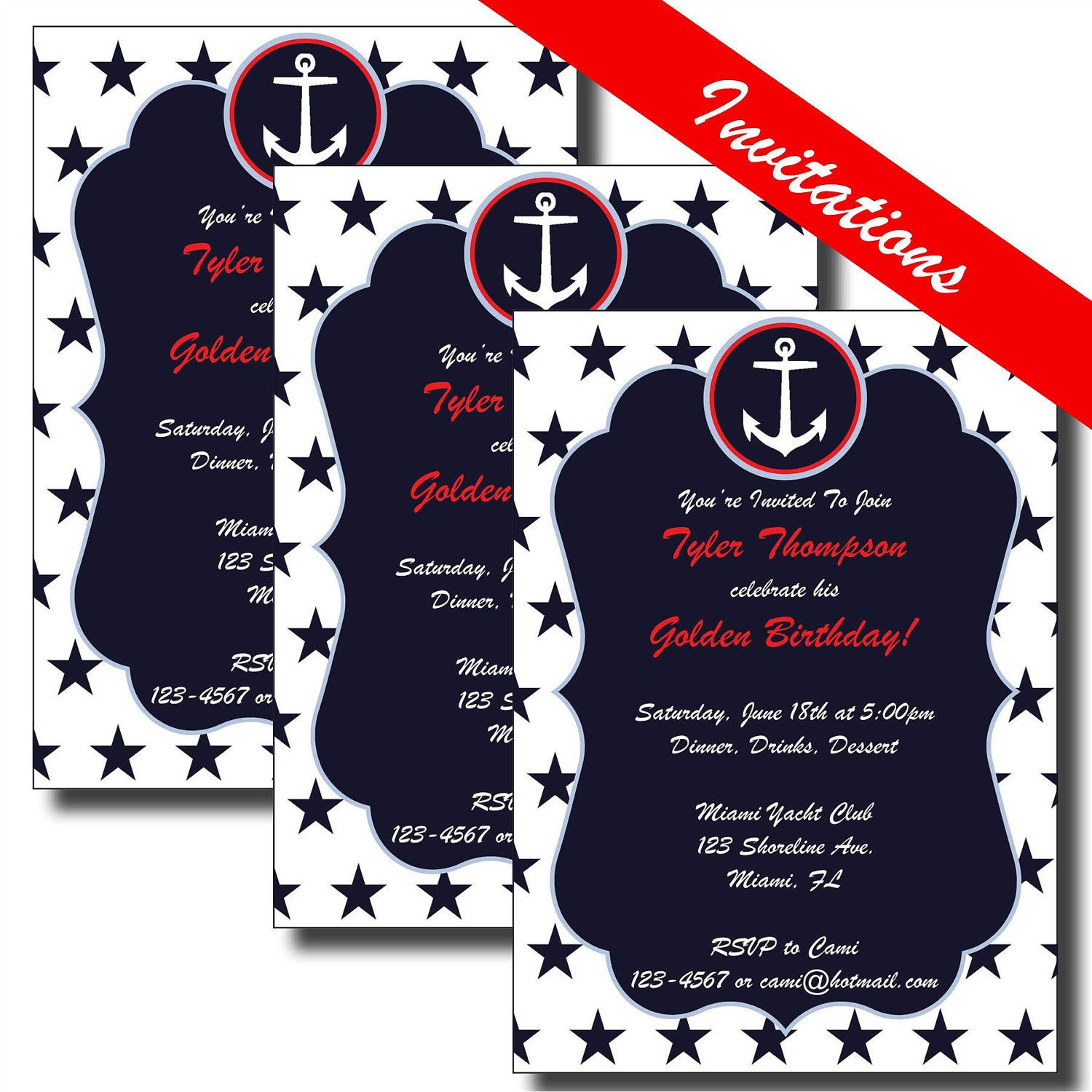 4th of July Party Invitation | Nautical Baby Shower Invitation ...