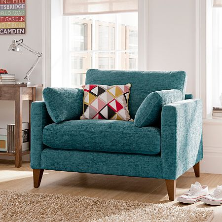 Chelsea Love Seat In Teal Love Seats Asda Direct Furniture Living Room Furniture Collections Living Room Decor