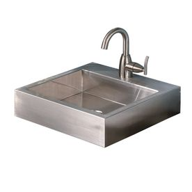 Kids Bath Or Powder Room Decolav Brushed Stainless Steel Above