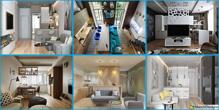 Come Arredare Un Open Space Di 20 30 Mq House Home Home Decor