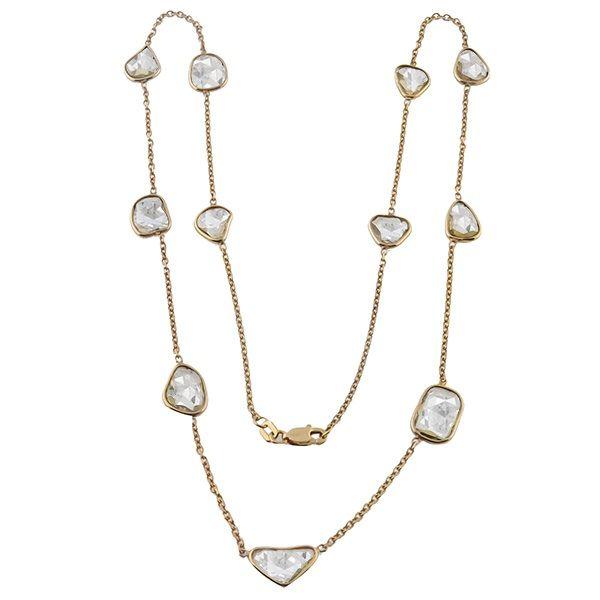 8e49ebceb 14k pink gold necklace 2 | I Like Shiny Things | Diamond pendant ...