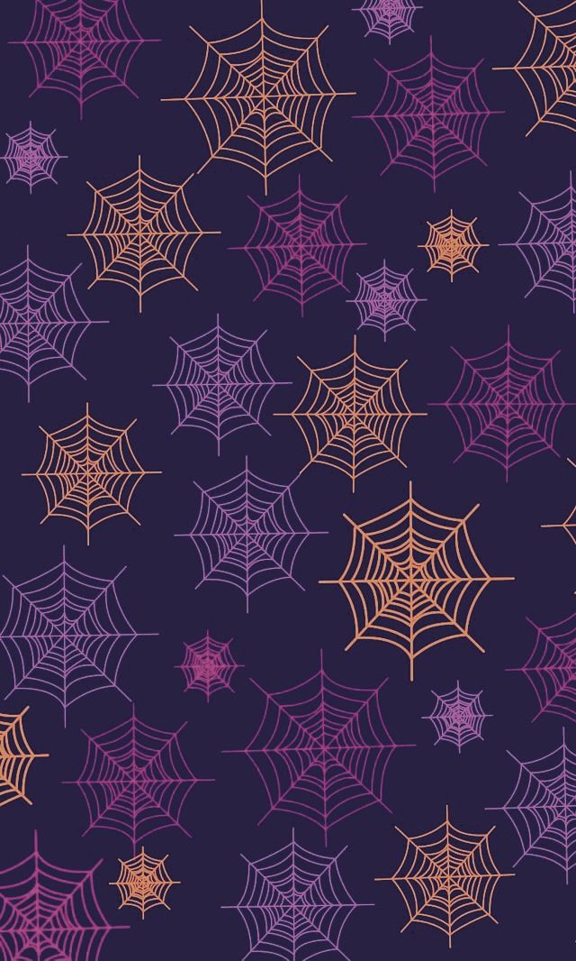 Colorful Halloween Spider Web Pattern