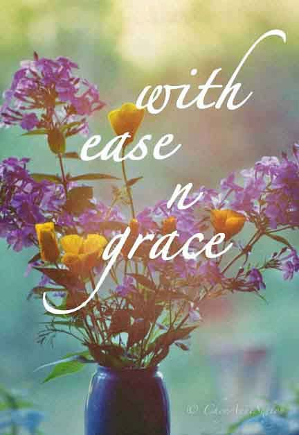 With Ease n Grace Purple n Orange  photograph by CheyAnneSexton, $13.00