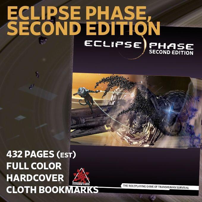 Grandes noticias, se acaba de lanzar la campaña de KickStarter para la Segunda Edición de Eclipse Phase, vamos a ver qué traerá nuevo