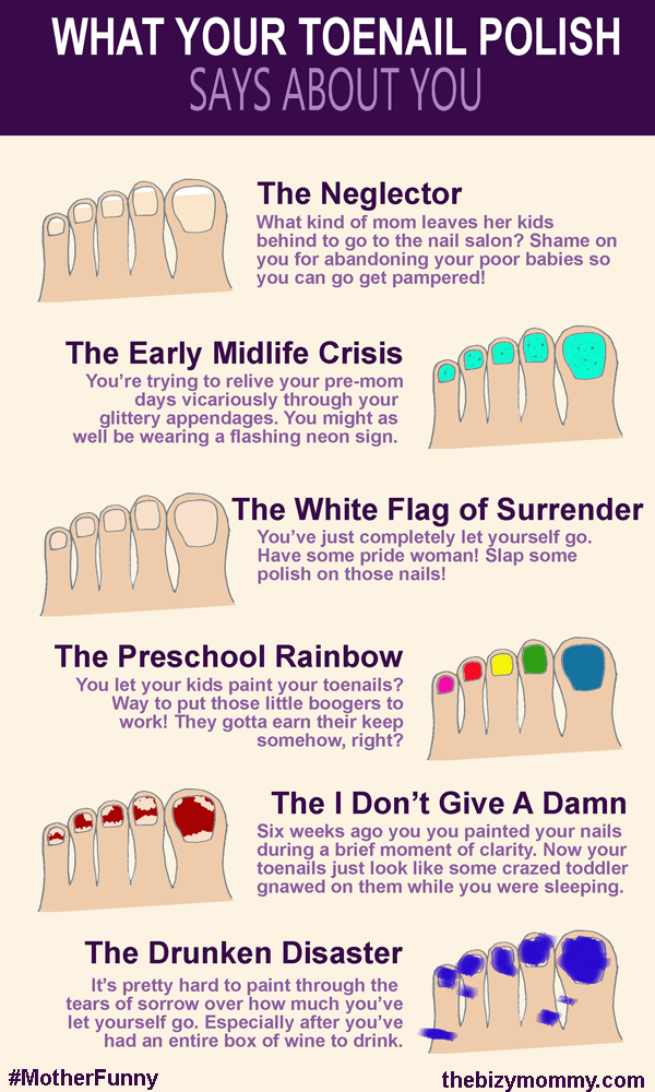 What your toenail polish says about you [Infographic] | For the ...