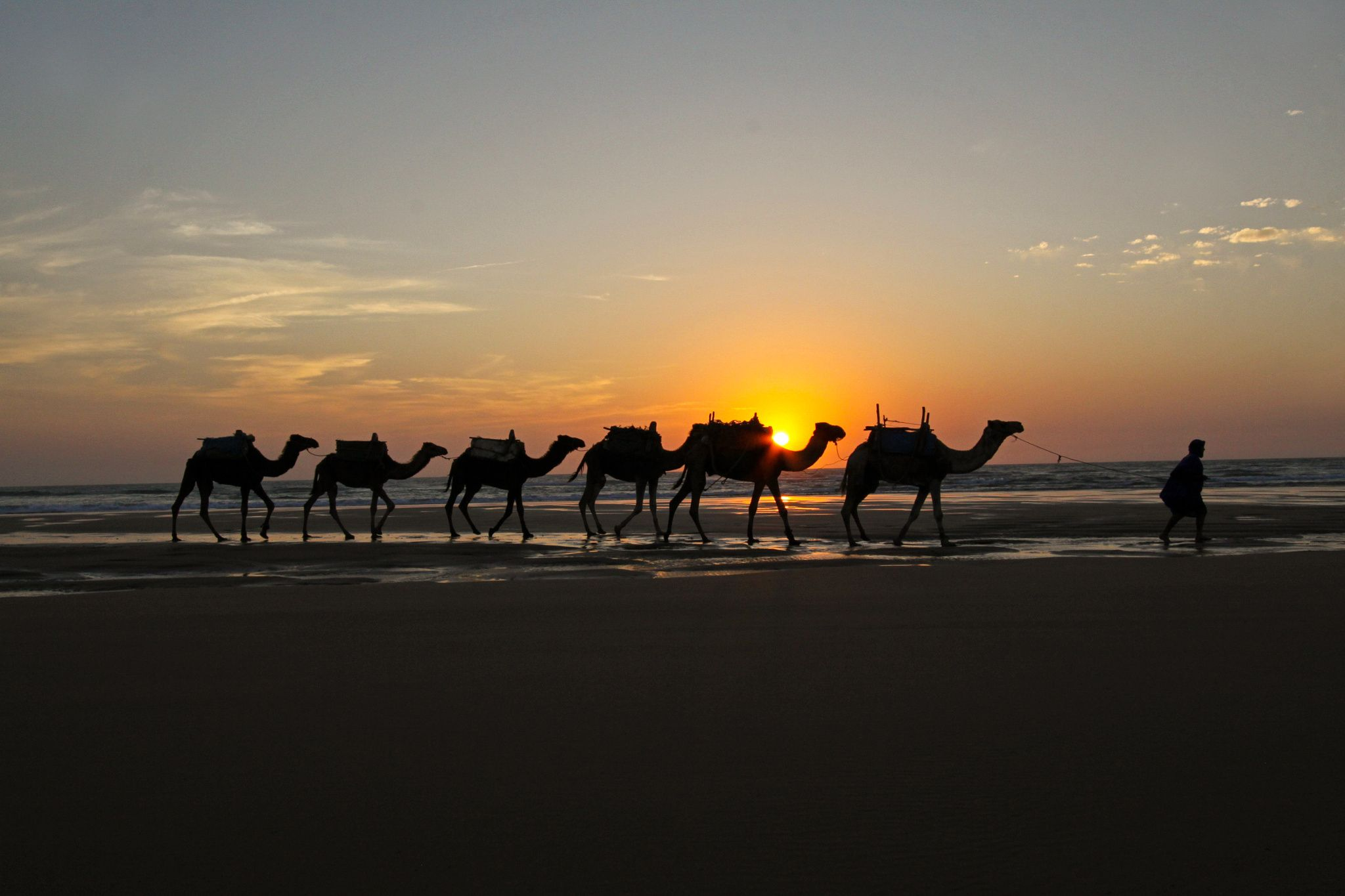Moroccan Sunset - Near Essaouira, Morocco  © Mel Weber