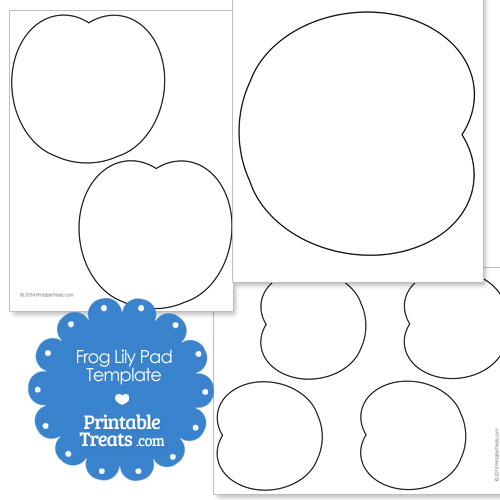 Printable Frog Lily Pad Template Printable Treats Com In 2020 Lily Pads Frog Crafts Frog Theme