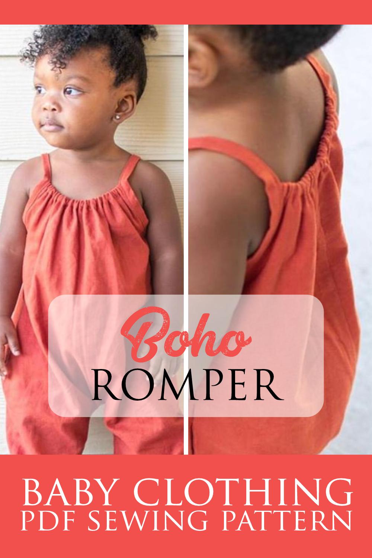 Boho Baby Clothing Pattern   Kids Sewing Pattern