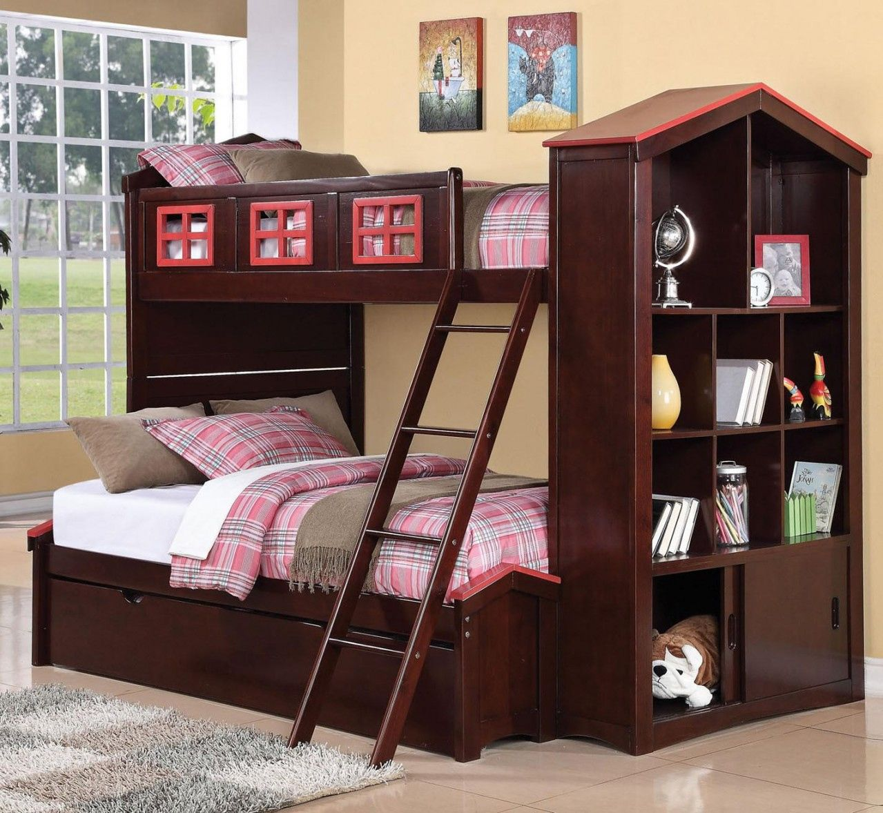 single with color espresso mission storage zoom drawers double bed beds bunk b