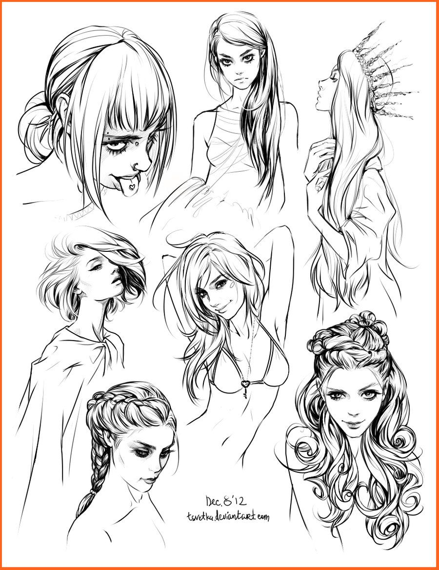 Swell 1000 Images About Character Design Hair On Pinterest Hair Short Hairstyles Gunalazisus