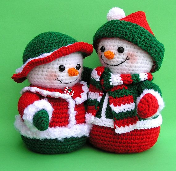 PDF Crochet Pattern Mr and Mrs WINTERS Snowmen (English only ...