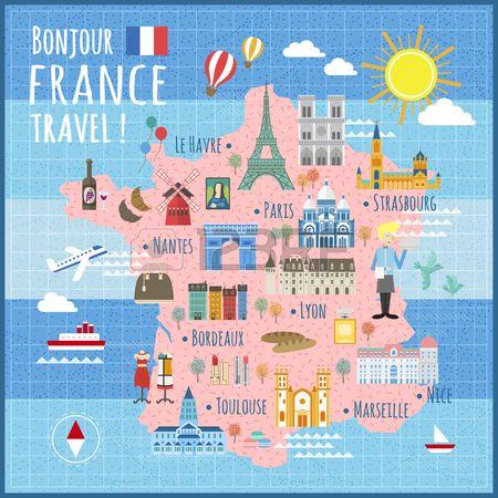 Mapa Turistico De Francia.Stock Photo En 2019 Mapa De Francia Viajes A Francia Y