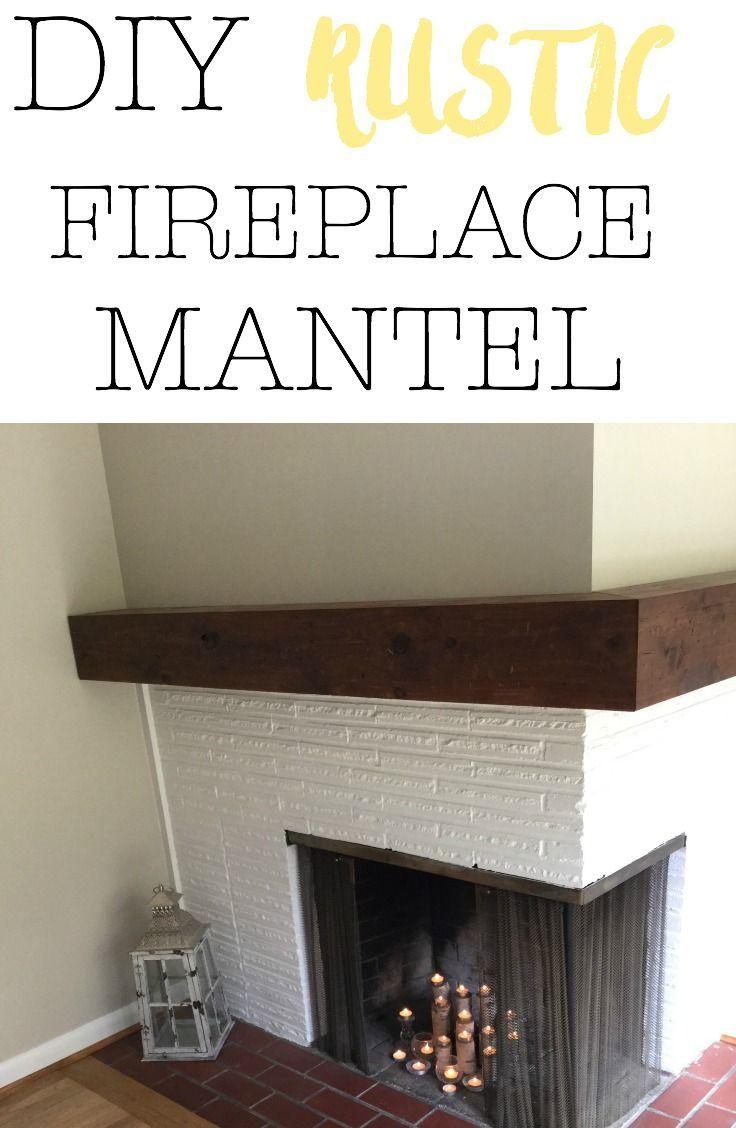 Diy rustic fireplace mantel woodworking pinterest fireplace