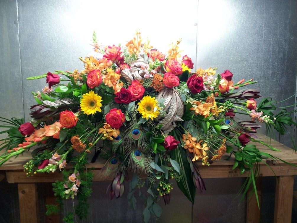 1000+ images about Sympathy flowers on Pinterest | Funeral ...  |Casket Flowers