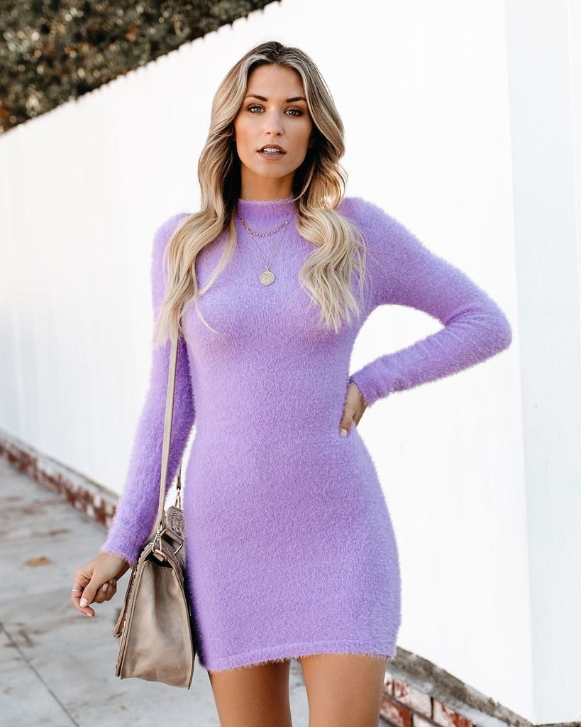 c3597761cff ONE LESS LONELY GIRL FUZZY SWEATER DRESS in 2019