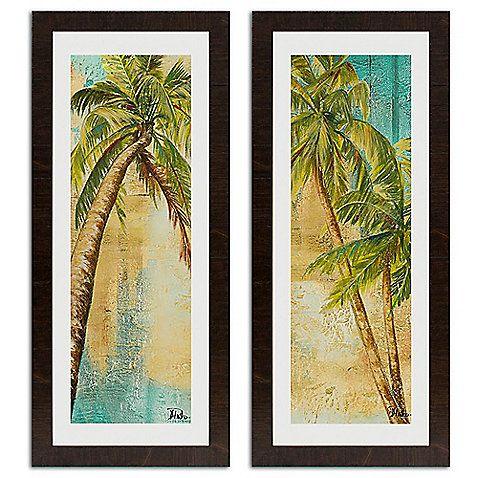 Bed Bath Beyond Beach Palm Wall Art 79 99 Each Palm Tree