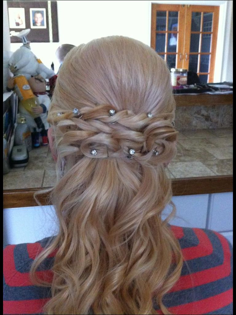 Prom hair half up half down i love this one jackie godbold