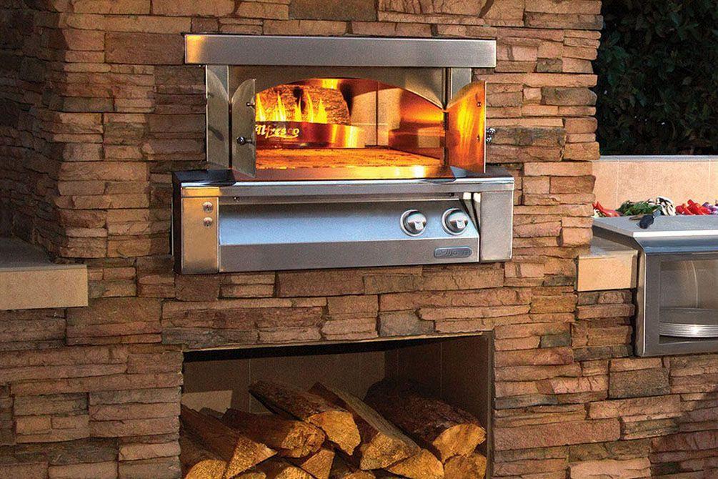 Alfresco Pizza Oven Plus Built In Gas Stainless Steel Outdoor Axe Pza Bi