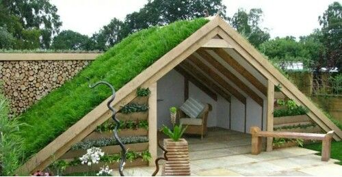 Forget an organic garden relaxing spot...I would build this for the goat paddock as a climb space & shelter!
