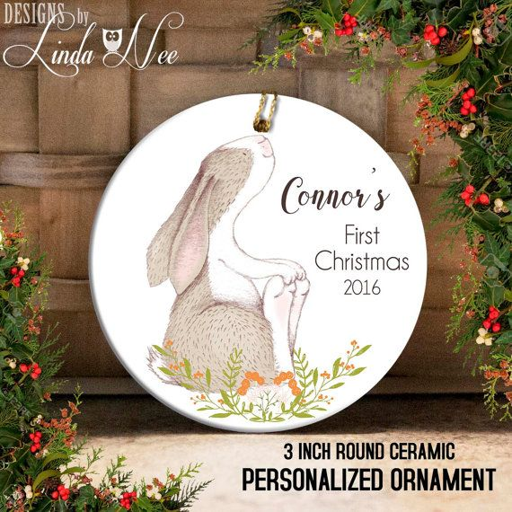 Babys First Christmas Ornament Personalized Baby Ornament Baby